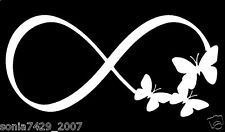 Infinity Butterflies Decal Car Window Sticker Wall Vinyl Funny Cute