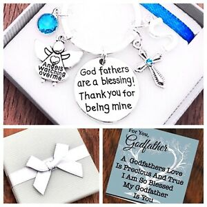 GODFATHER Gift, GODFATHERS ARE A BLESSING THANK YOU BEING MINE, PINK/BLUE, BOXED
