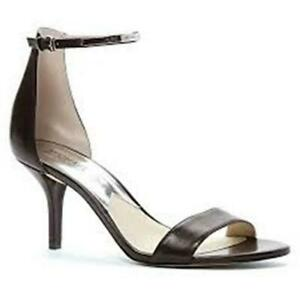 Michael Kors Kristen Mid Ankle Strap Black Sandal SZ 10 NIB