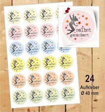 24 Aufkleber selbst gezaubert Etikett ♥ Geschenk Danke Fest Motiv Herz