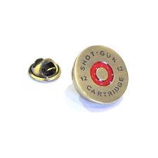 Gold Brass Shotgun Shell Cap Design Lapel Pin Badge Shooting Shoot Gun Gift New