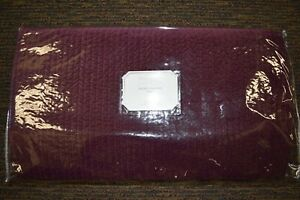 NEW Pottery Barn Monique Lhuillier Rich Velvet Channel Quilt Eggplant Full Queen