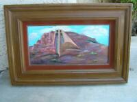 Original Oil Painting Chapel of the Holy Cross by Louis S. Gonzalez framed 23x16