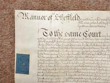 1745 Dungworth Bradfield Sheffield 18th century Georgian Vellum Deed Document