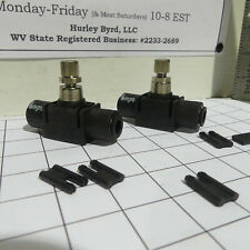 """Qty 2: Legris 3/8"""" Inline Pneumatic Air Flow Control Valves P/N: 7770 60 00"""