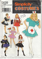 Costumes Naughty Nurse Maid Car Hop Gypsy Simplicity 639 Sew Pattern Uncut 14-20