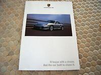 PORSCHE OFFICIAL BOXSTER S 996 TURBO GT2 911 BROCHURE POSTER 2002 USA EDITION.