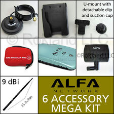 Alfa AWUS036NH 2000mW Wi-Fi  USB Super Package Deal 3 antennas, magbase, mount