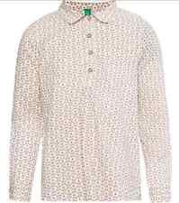 BENETTON Girls Cream Round Collar Shirt 4-5 years - Brand New