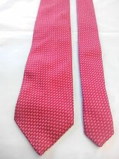 Geoffrey Beene Men's Vintage Silk Tie in an Embossed Red with a White Pattern