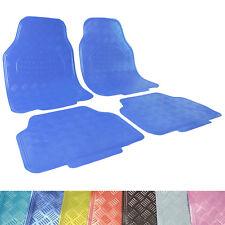 Universal Auto Fußmatten ALU Look 4 teilige Set Matten Klassisch Blau AM7170kb