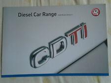 Vauxhall Diesel car range brochure 2008 models Ed 1