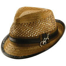 CARLOS SANTANA * MENS BROWN FEDORA HAT L XL * NEW GUITAR SHADY TOYO STRAW VENTED