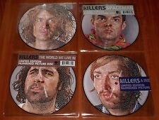 "THE KILLERS 4x 7"" PICTURE DISC VINYL Lot HUMAN / SPACEMAN / DUSTLAND / WORLD WE"