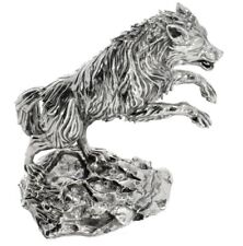 8 OZ TIMBER WOLF – PREDATOR'S PRINT - SOLID SILVER 3D STATUE Serial Number  #005