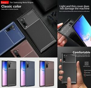 For Samsung Galaxy Note10 /Note10plus/Note10+ 5G Case Slim Carbon Fiber Cover