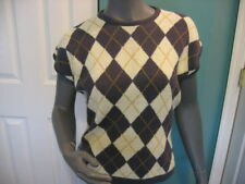 Vintage Avon Fashions 1970s Hong Kong Womens Argyle Sweater Size Medium
