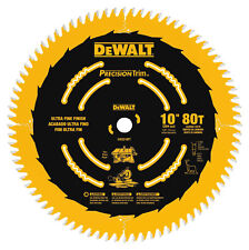 DW3218PT DeWalt 10 in Carbide Tipped Circular Saw Blade 5/8 in. 80 teeth