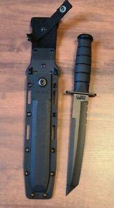 Ka-Bar 1245 Military Tanto Fighting Tactical Knife w/ Sheath BLACK