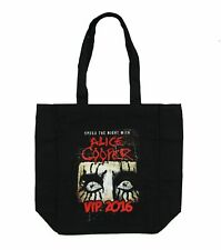 Alice Cooper VIP 2016 Spend the Night Spiders Black Canvas Tote Bag New Official