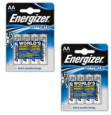 Energizer 639155 Hi Energy Lithium AA Battery 3000mah X4