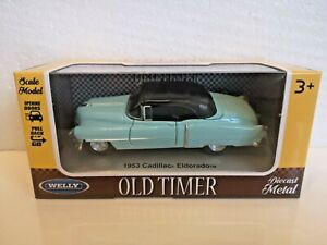 🚓 WELLY 1953 CADILLAC ELDORADO 1:32 1:36 1:39 car scale model new in box
