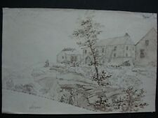 dessin ancien paysage ALSACE