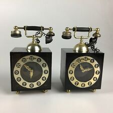 Pair of vintage clock music boxes - CHARIOTS OF FIRE + You Light up My Life