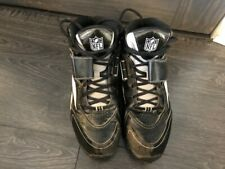 Reebok NFL Men's  football cleats shoes sneakers size 8 Black, White