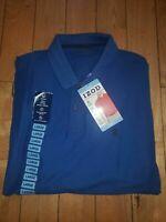 NWT Men's True Blue IZOD Moisture Wicking UPF 15 Polo Size Large L $44