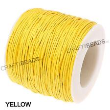1mm Waxed Polished Cotton Braided Cord Macrame Beading Artisan 20lbs - 80 Yards