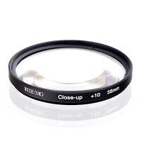 58mm Macro Close-up +10 Lens Filter Fr Canon EOS 400D 450D 600D 650D 1000D 1100D