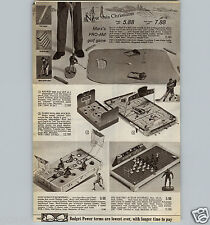 1967 PAPER AD Bobby Hull NHL Hockey Game Barbie Doll Wrist Watch