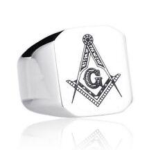 Silver Masonic Rings for Men