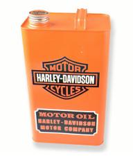 HARLEY DAVIDSON REPRODUCTION VINTAGE OIL / PETROL JERRY CAN RETRO - 31cm ORANGE