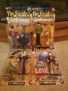 1999 McFarlane Toys - Beatles Yellow Submarine Action Figures ( Lot of 4)(#719)