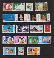 Thailand - 19 Mint stamps, cat. $ 34.25