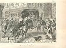 1804 Paris Arrestation de Georges Cadoudal Révolution française GRAVURE 1883