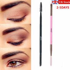 UK Double Sided Brow Makeup Brush Bamboo Handle Duo Eyebrow Flat Angled Brush