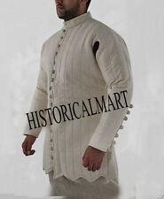 Medieval thick padded WHITE historical Gambeson Aketon armor wambais Reenactment