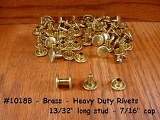 50 sets Quality! BRASS  #1018B Heavy Duty RIVETS for LEATHER Cases Belts