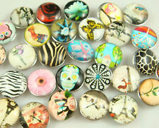 wholesale 5pcs Metal Chunks Snap Button DIY Chunks For Leather Bracelet 7hS