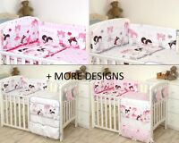 MORE DESIGNS Baby Bedding Set fit Cot 120x60cm or Cot Bed 140x70 BLACK ZIGZAG