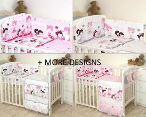 BALLERINA Baby Bedding Set fit Cot 120x60cm or Cot Bed 140x70 -BABY GIRL BOY