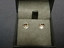 Welsh Clogau Sterling Silver & Rose Gold Tree Of Life Stud Earrings RRP £169