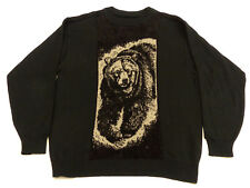 Carlo Colucci Vintage Casual Pullover Brown Bear Grizzly Retro Size: L Tip Top