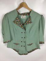 PERRY COUNTRY Trachten Kostüm, Vintage, grün, Größe 42, 100% Baumwolle