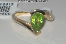 EXQUISITE ESTATE 14K YELLOW GOLD PEAR GREEN PERIDOT LADIES RING 5.4 Grams SZ 6.5