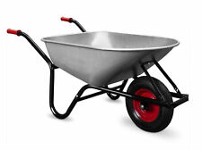 Monzana® Schubkarre 100L Bauschubkarre bis 250kg Gartenkarre verzinkt Stollenrad