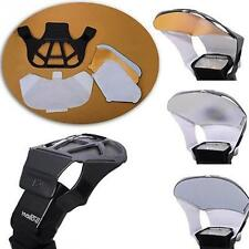 Flash Bounce Reflector Card Diffuser w/ 3 Color Reflector For Flash Speedlite CN
